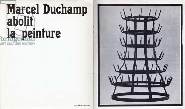 'Marcel Duchamp abolit la peinture', exhibition poster for 'Notre Héritage Artistique', at the Galerie Breteau, Paris, March 1968 (litho)