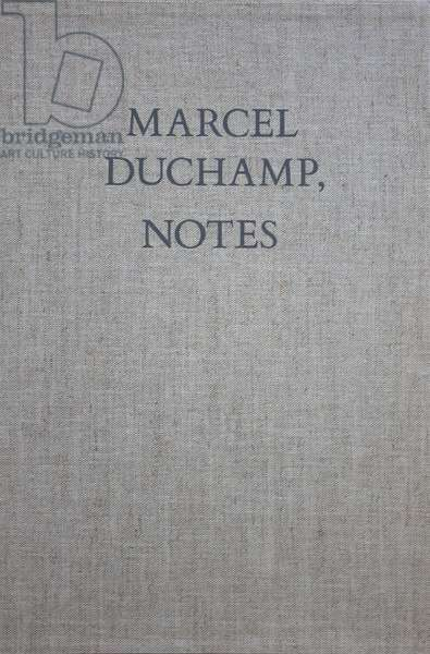 Front cover of 'Marcel Duchamp, Notes', published 1980 (cloth binding)