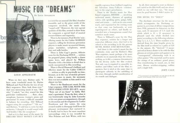 Film brochure for 'Dreams That Money Can Buy', Published by New York: Films International America, 1947 (colour litho)