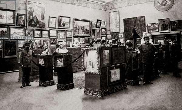 Colonial exhibition at the Palais des Beaux Arts, Marseille (b/w photo)