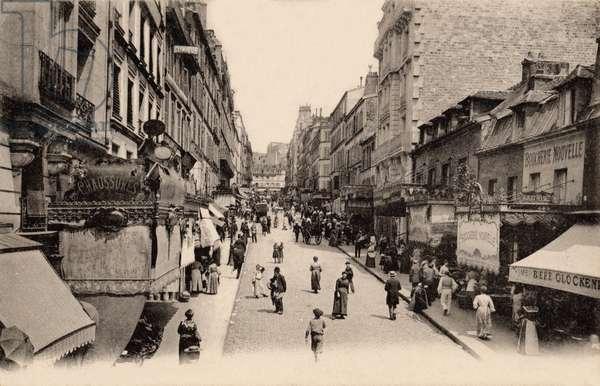 Rue Lepic, Montmartre, Paris, 1900 (b/w photo)