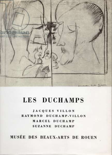 Poster for 'Les Duchamps', Jacques Villon, Raymond Duchamp-Villon, Marcel Duchamp, Suzanne Duchamp at the Musée des Beaux-Arts, Rouen, 15 April-1 June 1967 (litho)