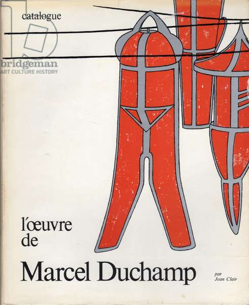 Exhibition catalogue for 'l'oeuvre de Marcel Duchamp' at the Musee National d'Art Moderne, Centre Georges Pompidou, featuring Neuf Moules Mâlic, 1977 (colour litho)