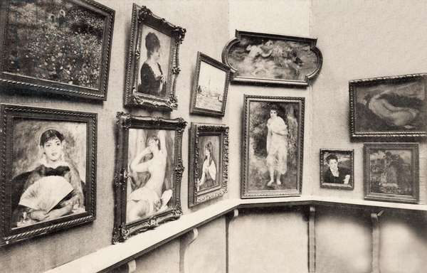 The Renoir Room at the Salon d'Automne in the Grand Palais, 23 August 1905 (b/w photo)