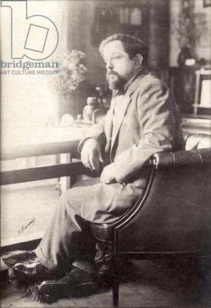 Claude Debussy (b/w photo)
