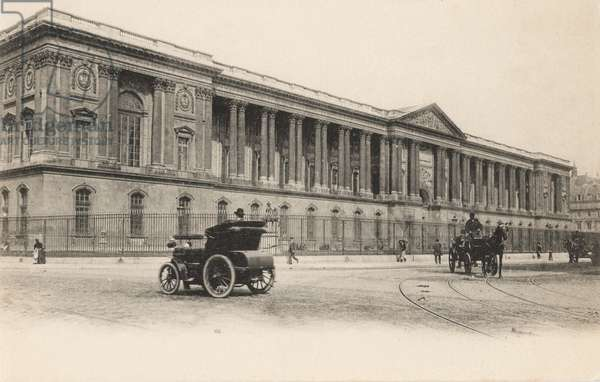 Colonnade, Louvre, Paris, 1910 (b/w photo)