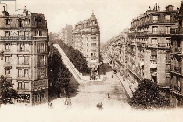 Rue Lamark et Rue Caulaincourt, Montmartre, Paris, 1917 (b/w photo)