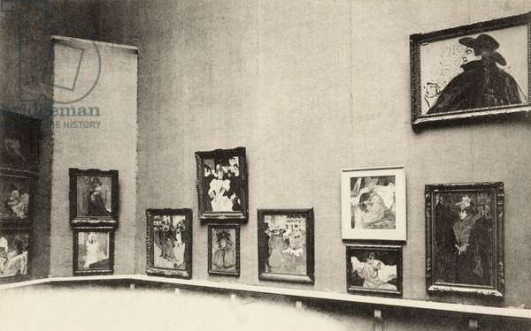 Grand Palais, Salon d'Automne, view of Toulouse-Lautrec's paintings, 1905 (photo)