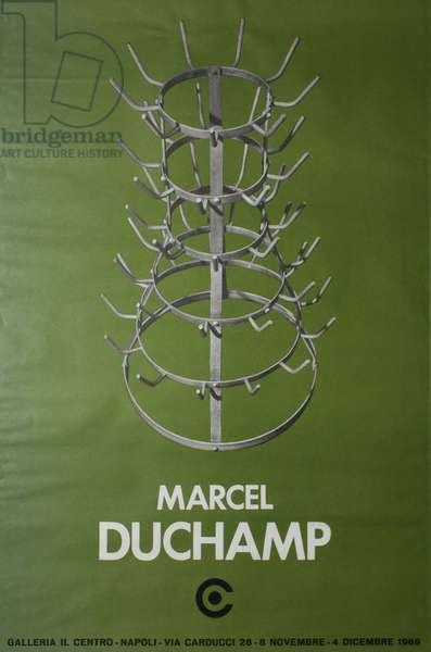 Exhibition poster for Marcel Duchamp at Galleria il Centro, Napoli, 8 November to 4 December, 1969 (serigraph)