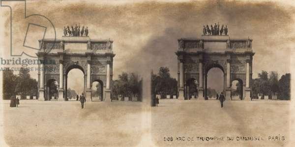 Arc de Triomphe du Carrousel, Paris, 1900 (b/w photo)