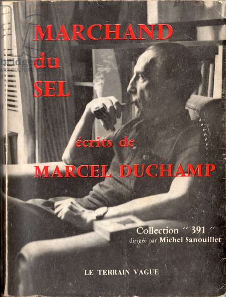 Front cover of 'Marchand du Sel: Writings of Marcel Duchamp', 1958 (colour litho)