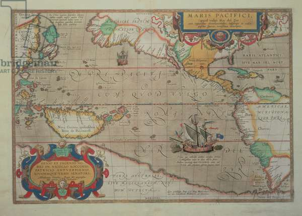 Map of the Pacific, China and America, 1589 by Abrahamus Ortelius (l527-98) (for detail see 84597)