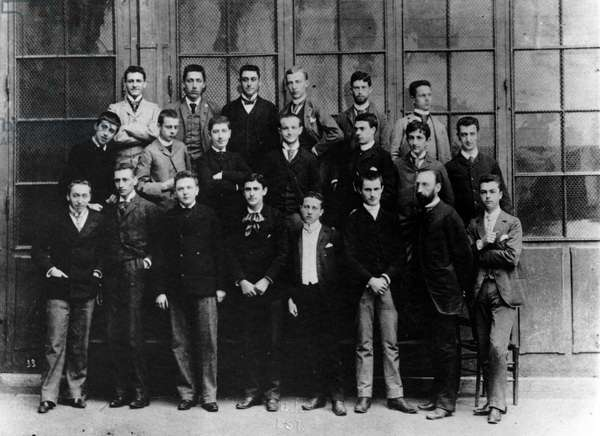 Marcel Proust in Lycee (Second row on the left) - The philosophy course of Alphonse Darlu (1888-1889) at the Lycee Concorcet in Paris