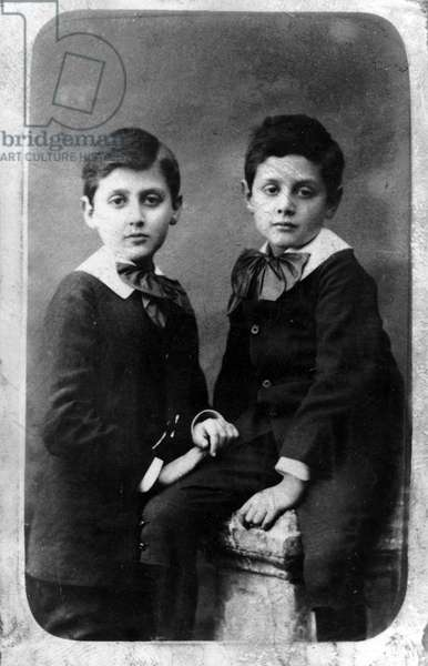 Robert and Marcel Proust in 1877
