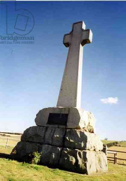 Monument commemorating the 'brave of both nations' in the Battle of Flodden, 9 September 1513, 1910 (photo)