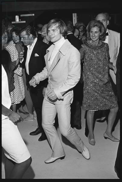 Rudolf Nureyev at a Malibu house party, 1965 (b/w photo)