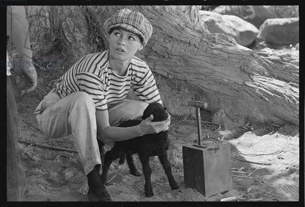 Brigitte Bardot on the set of 'Viva Maria', 1965 (b/w photo)