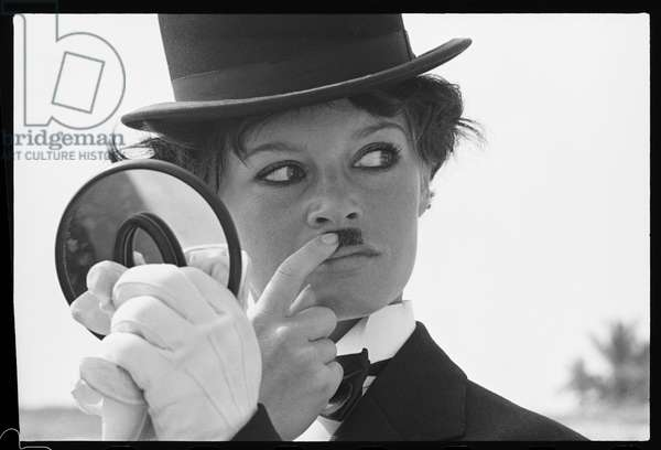 Brigitte Bardot as Chaplin, 1965 (b/w photo)