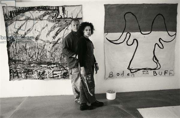 Olly & Suzi in Studio, Galerie Vayhinger, Konstanz, Germany