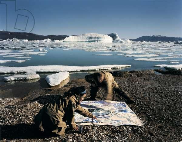 Floating Painting Ottofjord, Ellesmere Island, Canadian Arctic