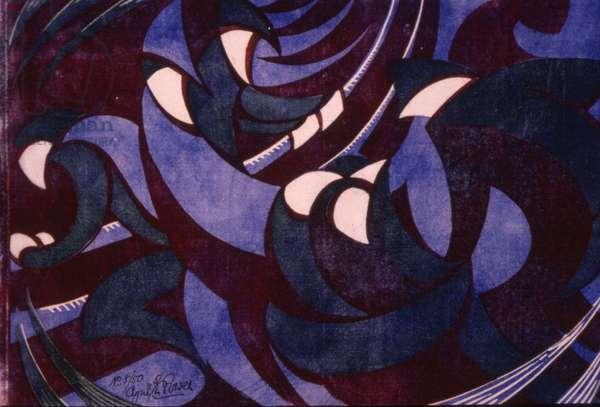Southampton-Havre, c.1931 (linocut)
