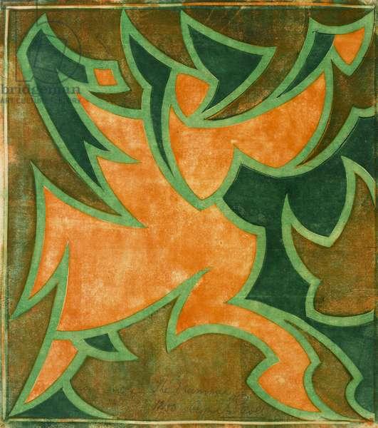 The Mummer, c.1931 (linocut)