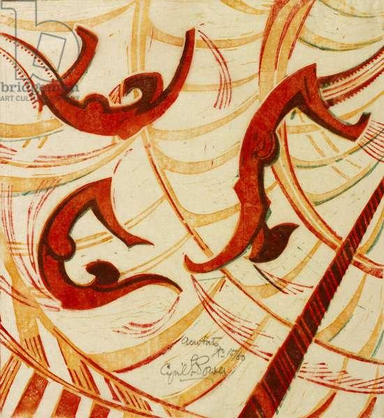Acrobats, c.1933 (linocut)