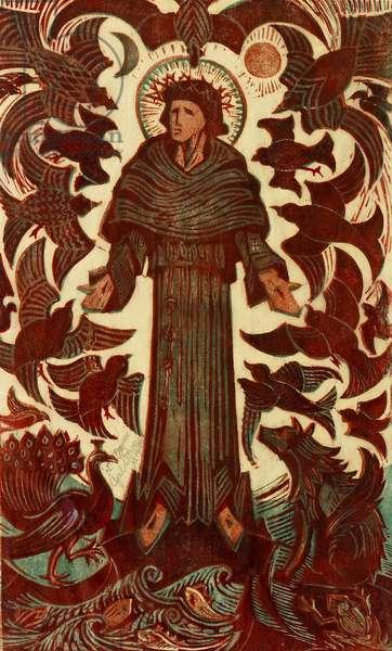 St Francis, c.1937 (linocut)