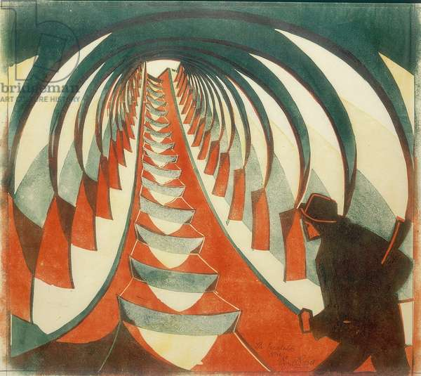 The Escalator, c.1926 (linocut)