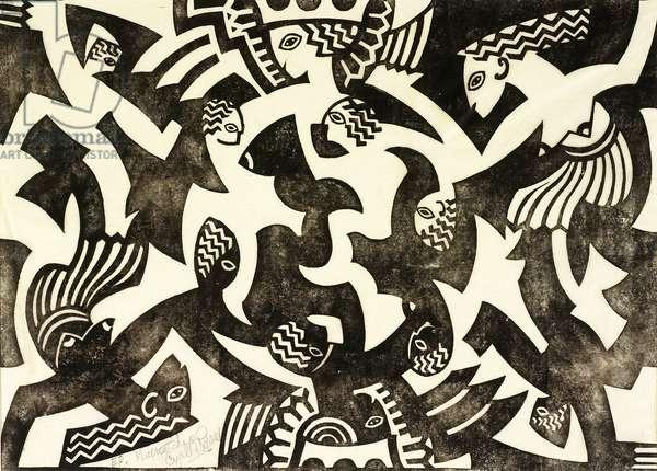 Matriarchy, c.1931 (linocut)