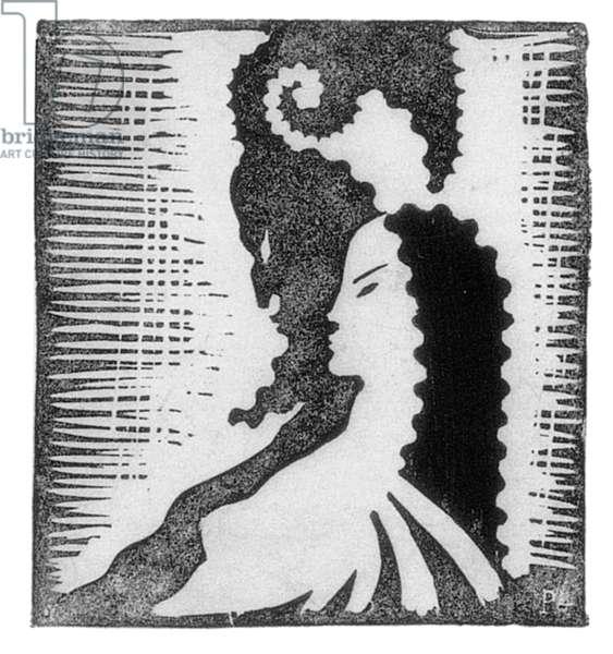 Shadows, c.1925 (linocut)