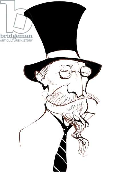 Erik Satie - French composer and pianist (1866-1925); caricature in top hat