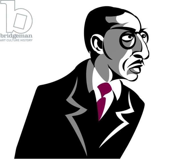 Igor Stravinsky - caricature