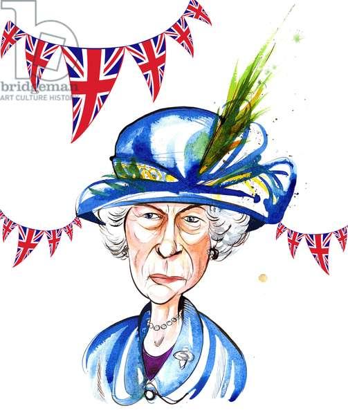 Queen Elizabeth II  2012, diamond jubilee, by Neale Osborne