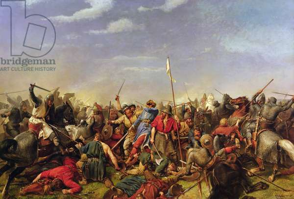 Battle of Stamford Bridge, 1870 (oil on canvas)