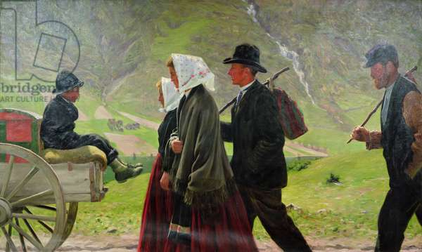 Emigrants, 1900 (oil on canvas)