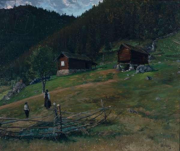 Vinje's bithplace, Telemark, 1890 (oil on canvas)