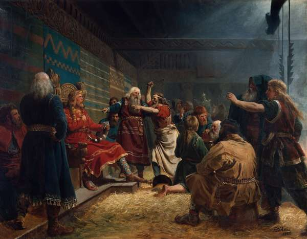 Haakon the good and farmers at the sacrifice of cage, 1860