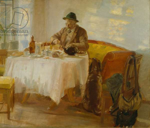 Breakfast before the Hunt, 1903 (oil on canvas)