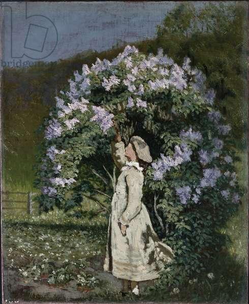 The Lilac Bush, 1891 (oil on canvas)