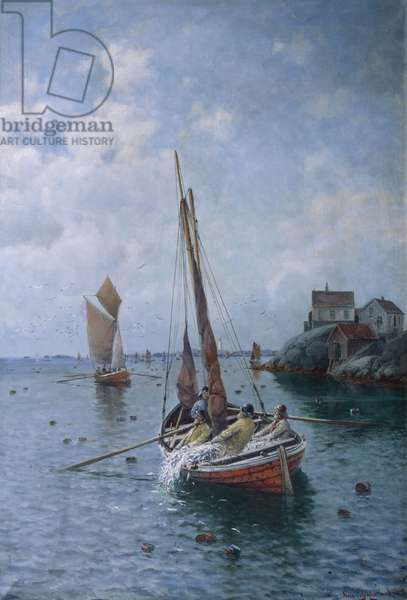 Herring Fishing, 1915 (oil on canvas)
