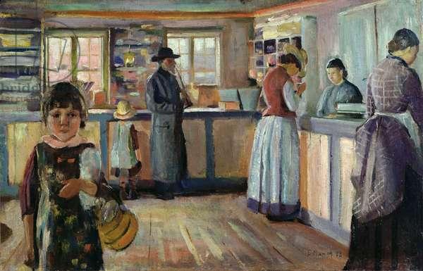 Vrengen Village Shop, 1888 (oil on canvas)