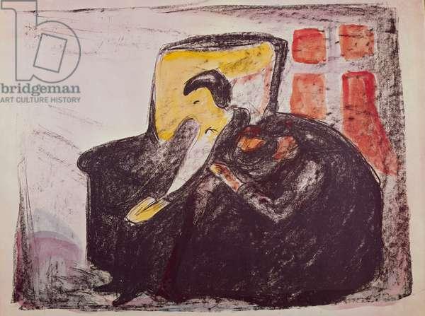 Oswalds Breakdown, 1920 (pastel on paper)