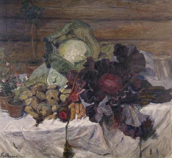 Vegetables, 1906 (oil on canvas)