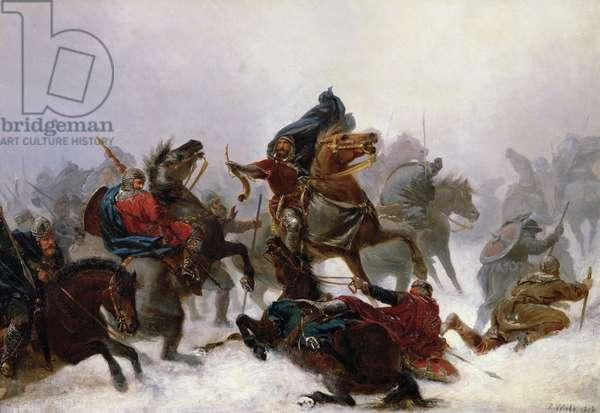 King Sverre escapes, 1862 (oil on canvas)