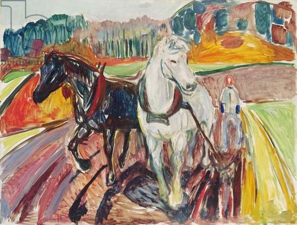 Horse team, 1919 (oil on canvas)