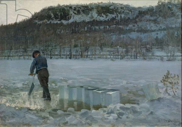 Daelivannet, Cutting Ice, 1889 (oil on canvas)