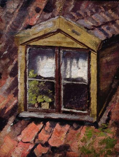 An attic window, 1893 (oil on canvas)