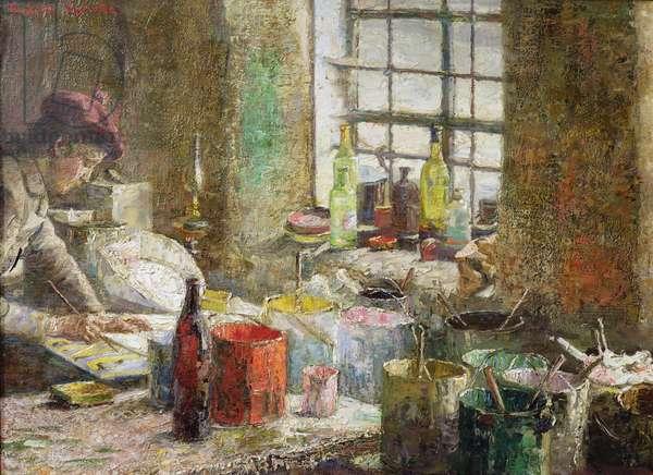 Painter's Workroom, 1885 (oil on canvas)