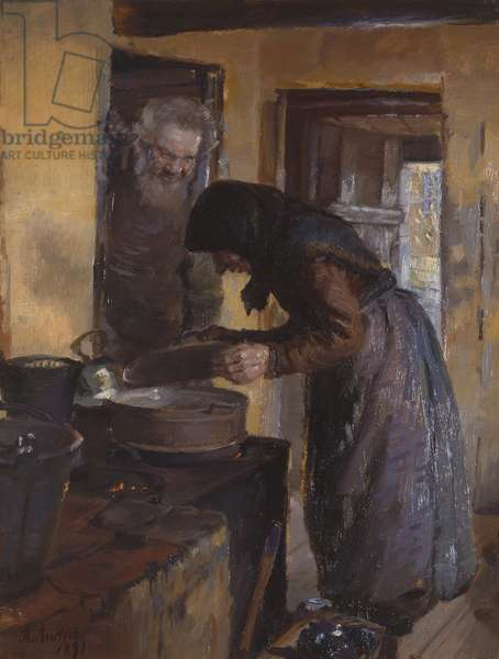 In the kitchen, 1891 (oil on canvas)